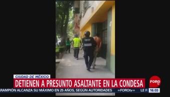 Foto: Detienen a presunto asaltante en La Condesa