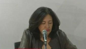 Foto: La directora del STC Metro, Florencia Serranía, ofrece una conferencia de prensa, 25 abril 2019