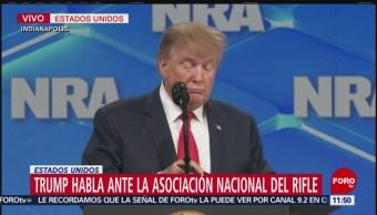 Donald Trump participa en Asociación Nacional del Rifle