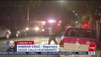 Dos intoxicados por incendio en casa habitación en CDMX