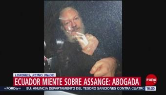 FOTO: Ecuador miente sobre Assange: abogada, 14 de abril 2019