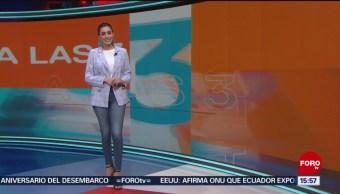 Foto: El Clima 'A las Tres' con Daniela Álvarez del 11 de abril de 2019