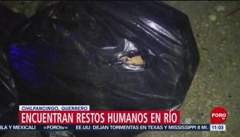 Encuentran restos humanos en río Huacapa, en Chilpancingo, Guerrero