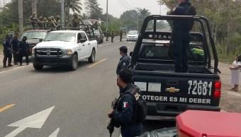 Foto: Enfrentamiento en Tabasco, 4 de abril 2019. Twitter @XEVATabasco