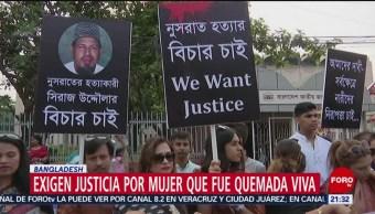 FOTO: Exigen justicia para mujer quemada viva por denunciar acoso sexual, 19 ABRIL 2019