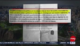 FOTO: Expresidente de Perú deja carta donde describe los motivos para suicidarse, 19 ABRIL 2019