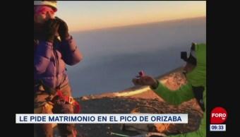 Extra, Extra: Le pide matrimonio en el pico de Orizaba