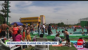 Extra, Extra: Reinauguran playas en Iztapalapa