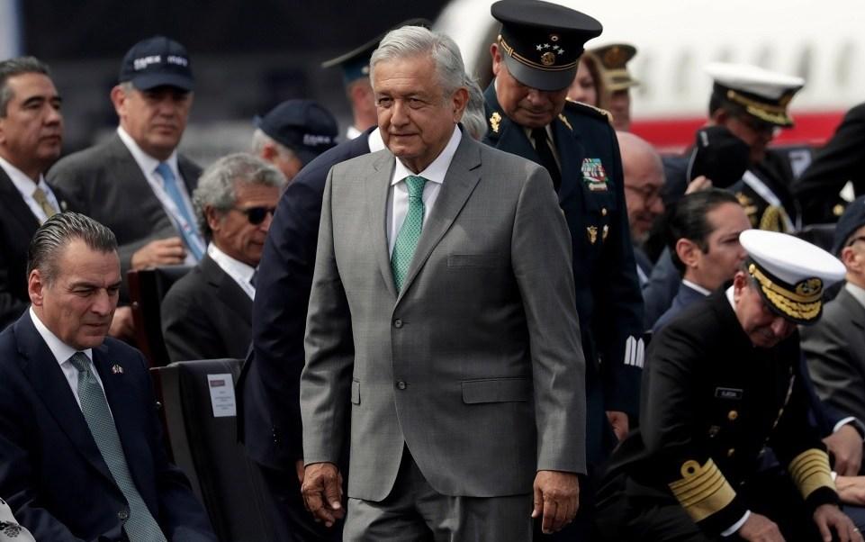Foto: El presidente de México, Andrés Manuel López Obrador, inauguró la Feria Aeroespacial 2019 en la base aérea de Santa Lucía. El 24 de abril de 2019