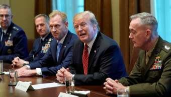 Foto: El presidente de Estados Unidos, Donald Trump, se reúne con funcionarios de seguridad en la Casa Blanca. El 3 de abril de 2019