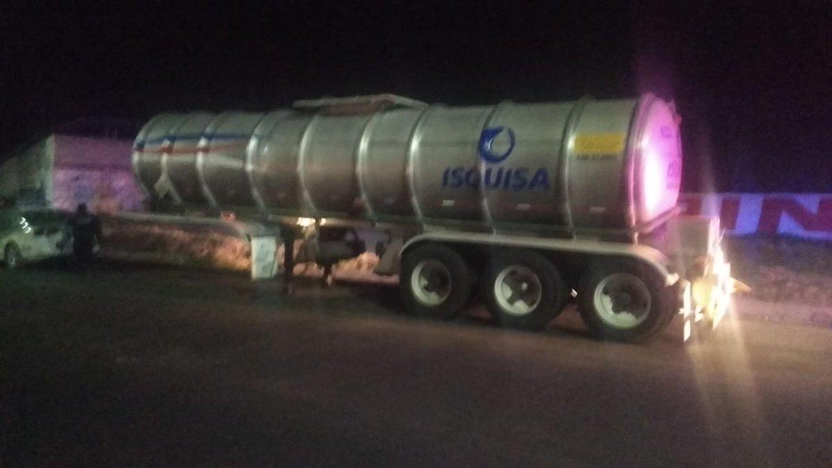 Foto: Autoridades de Puebla hallaron el contenedor con ácido fosfórico robado. El 22 de abril de 2019