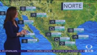Frente frío 53 provocará lluvias en el norte de México