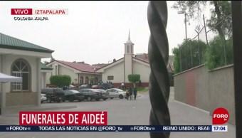 Foto: Funerales de Aideé, asesinada en CCH Oriente