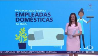 IMSS lanza programa piloto para trabajadoras del hogar