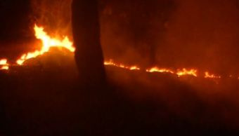 Reportan incendio en carretera Picacho-Ajusco
