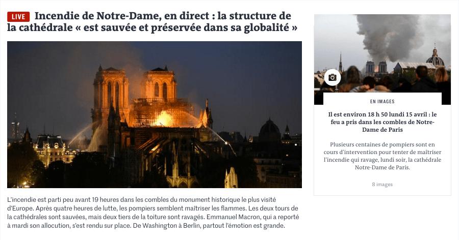 Incendio de Notre Dame, en directo. 'La estructura de la catedral está salvada en su totalidad' (Le Monde)