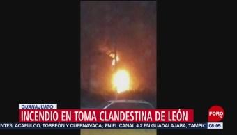 FOTO: Incendio en ducto de Pemex en León por toma clandestina, 7 de abril 2019