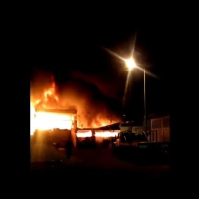 Controlan incendio en planta recicladora en San Juan de Aragón, en CDMX