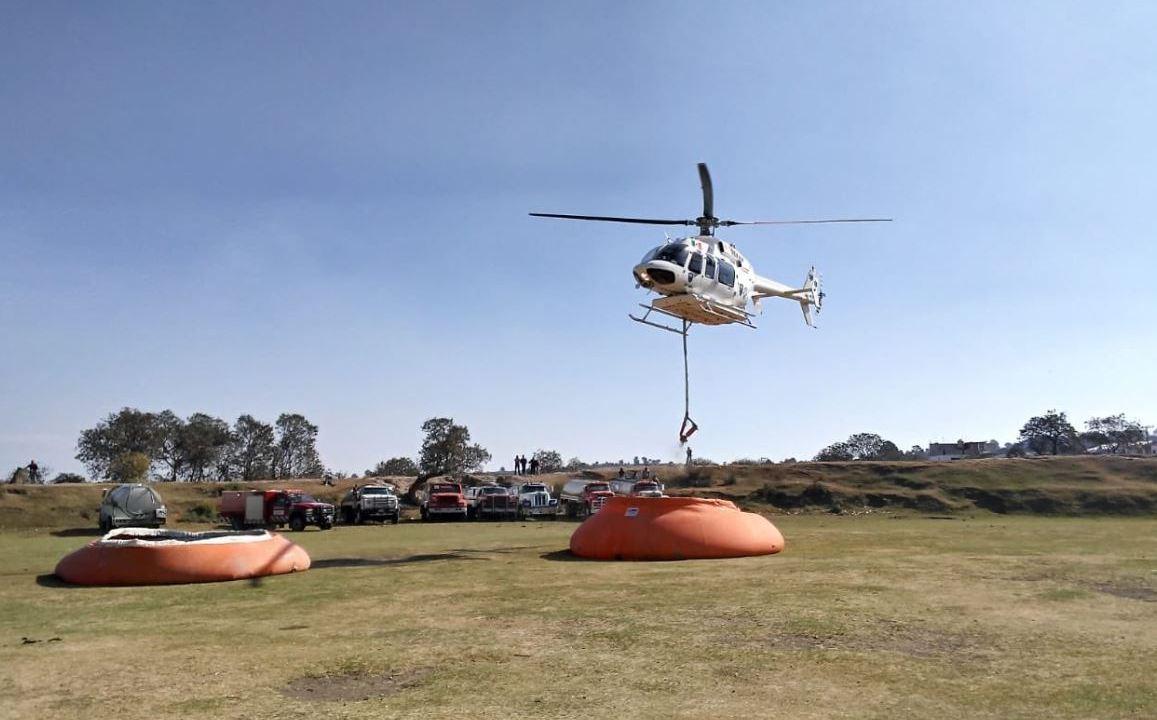 Combaten seis incendios forestales en Puebla