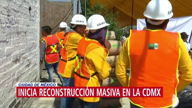 Inicia reconstrucción masiva en la CDMX
