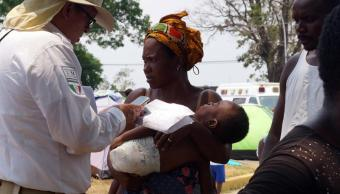 Foto INM: llegada de africanos a Chiapas es tráfico de personas 12 abril 2019