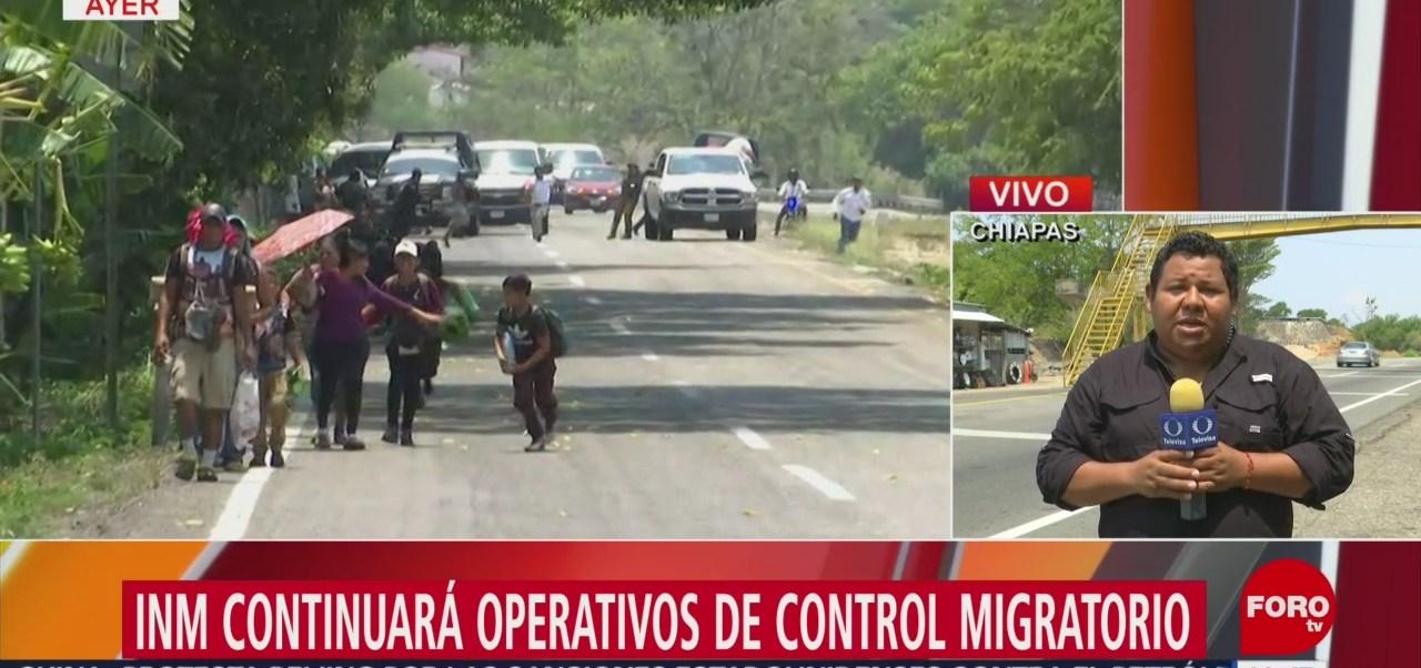 INM continuará operativos para controlar migración en Chiapas