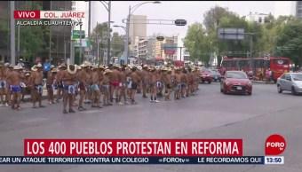 Foto: Manifestaciones CDMX Marcha Reforma Trálfico CDMX 3 de Abril 2019