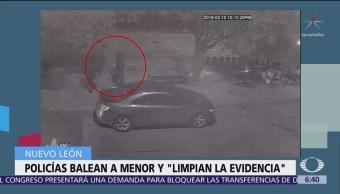 Investigan a policías de Nuevo León por disparo contra menor