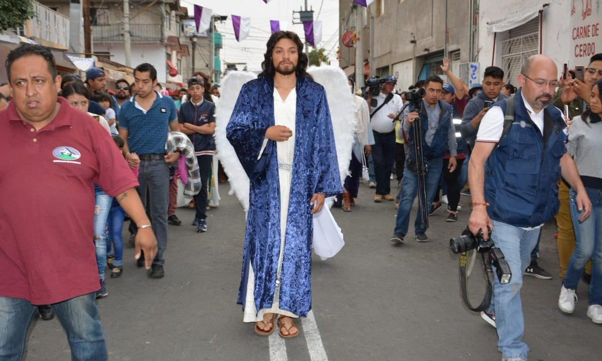 Foto IIztapalapa lista para 176 representación la Pasión de Cristo 18 abril 2019