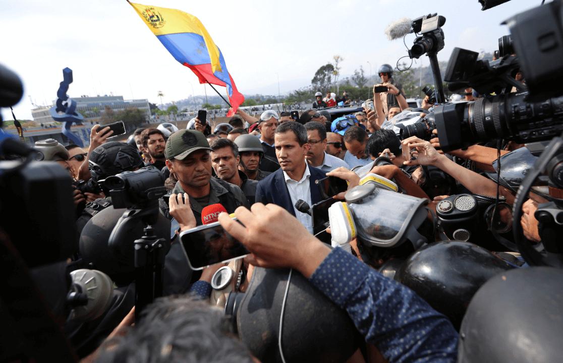 Foto: Juan Guaidó, autoproclamado presidente de Venezuela, 30 de abril de 2019