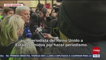 Piden liberación de Assange en Reino Unido