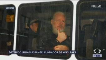 Foto: Las reacciones tras la detención de Julian Assange