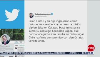 Foto: Leopoldo López se refugia en embajada de Chile en Caracas