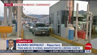 Foto: Liberan Caseta Autopista México-Cuernavaca 17 de Abril 2019