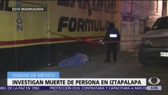 Localizan sin vida a hombre en Iztapalapa, CDMX