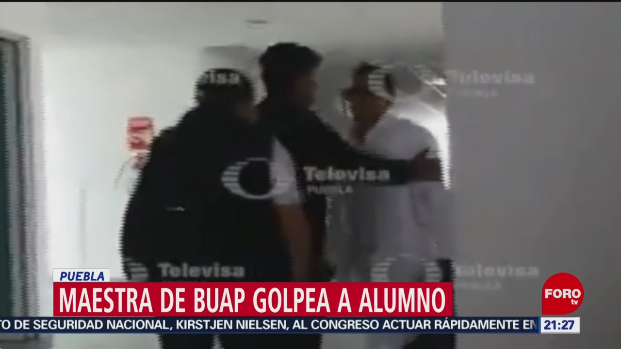 Foto: Maestra Buap Golpea Alumno Video Cahcetada Alumno 4 de Abril 2019