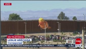 Manifestaciones por visita de Trump en Calexico, California