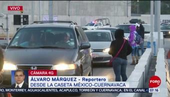 FOTO: Manifestantes toman por segundo día consecutivo caseta México-Cuernavaca, 18 abril 2019