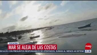 FOTO:Mar se aleja en Puerto Telchac, Yucatán, 24 ABRIL 2019