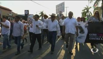 Foto: Marcha Minatitlán Exigir Justicia Masacre 23 de Abril 2019