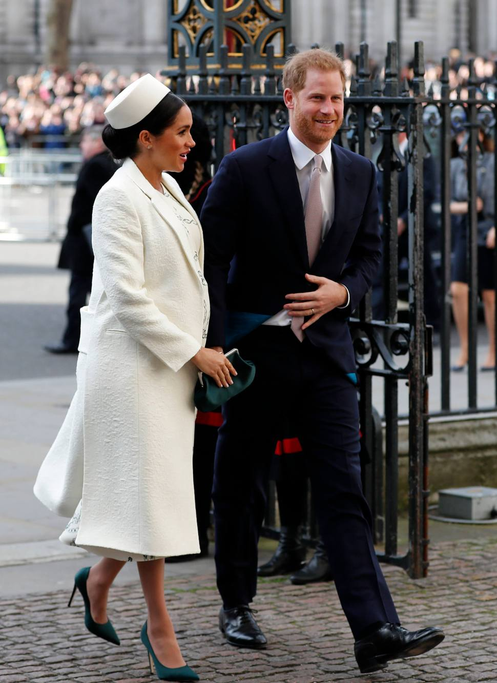 FOTO Matthew o Diana, surgen quinielas sobre bebé de Meghan Markle (AP 11 marzo 2019)
