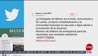 FOTO: México condena los ataques ocurridos en Sri Lanka, 21 ABRIL 2019