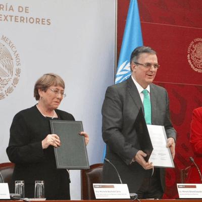 México y la ONU firman acuerdo para apoyar Comisión del caso Ayotzinapa