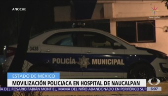 Movilización policiaca en hospital privado de Naucalpan, Edomex