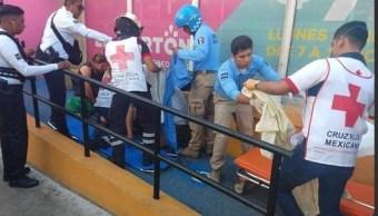 Foto: Mujer da a luz en calles de Acapulco, 11 de abril 2019. Twitter @ReporterosAca