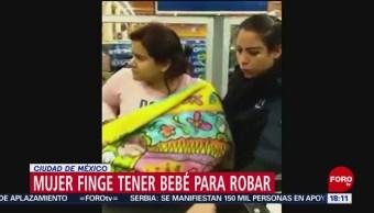 FOTO: Mujer finge tener bebé para robar en supermercado de la CDMX, 20 ABRIL 2019
