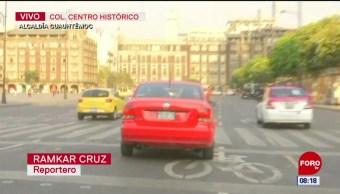 Mujer se retira tras intentar ingresar con su vehículo a Palacio Nacional
