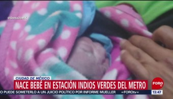 Foto: Nace bebé en estación Indios Verdes del Metro CDMX