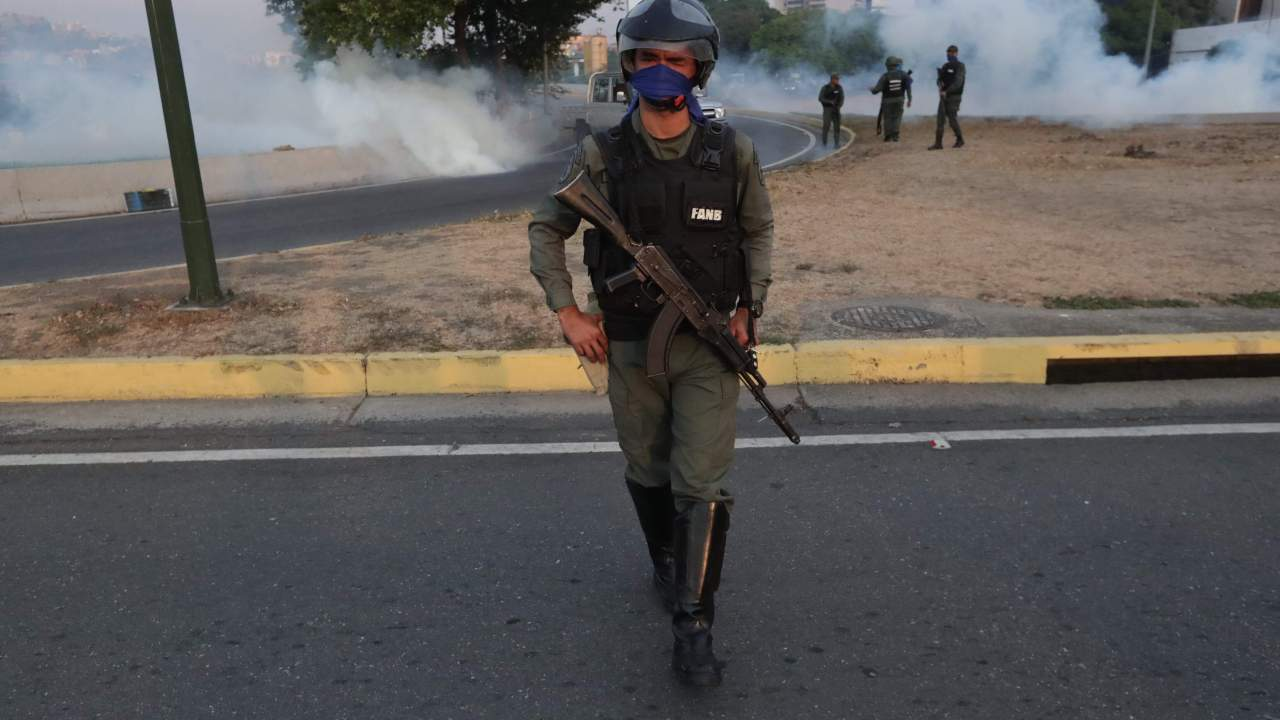 FOTO Nicolás Maduro dice que tiene total lealtad de militares (EFE 30 abril 2019 caracas)