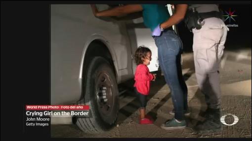 Foto: Niña Migrante Llorando Mientras Detienen Familia La Mejor Foto Del Año 11 de Abril 2019